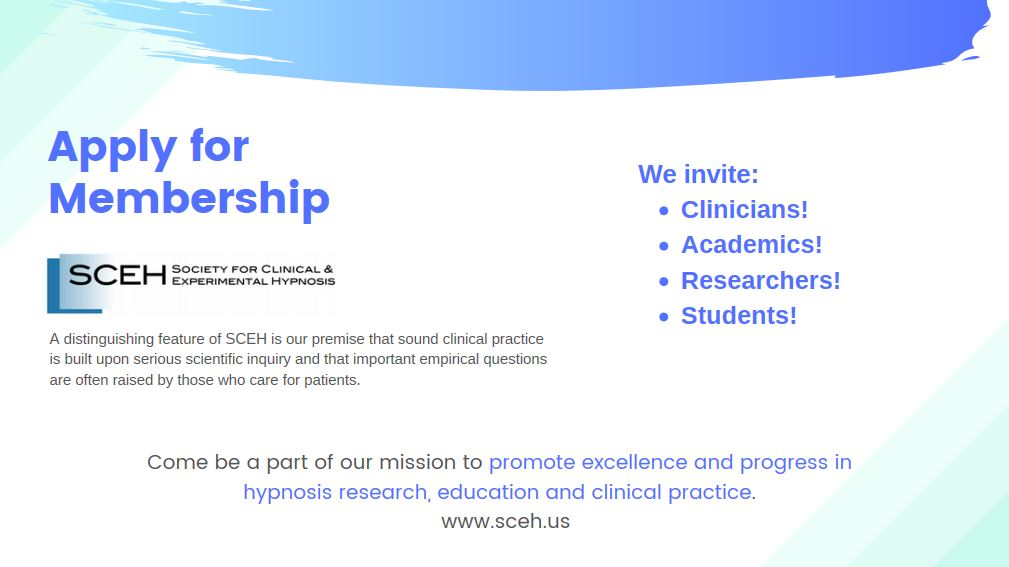 SCEh apply for membership